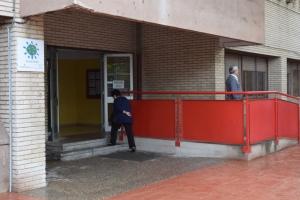 L'escola Gaudí, avui col•legi electoral